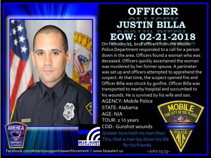 Officer Justin Billa EOW: 2-21-2018  #LO...