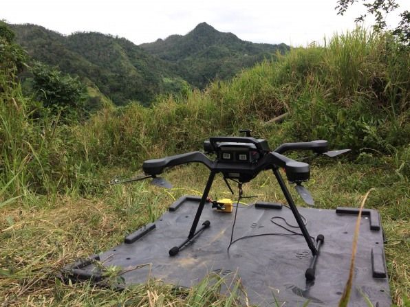 In Puerto Rico's mountains, these drones...