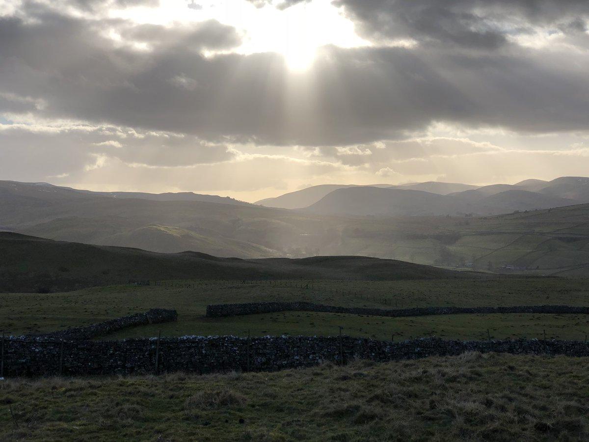 God light over the Howgills. A stunning...