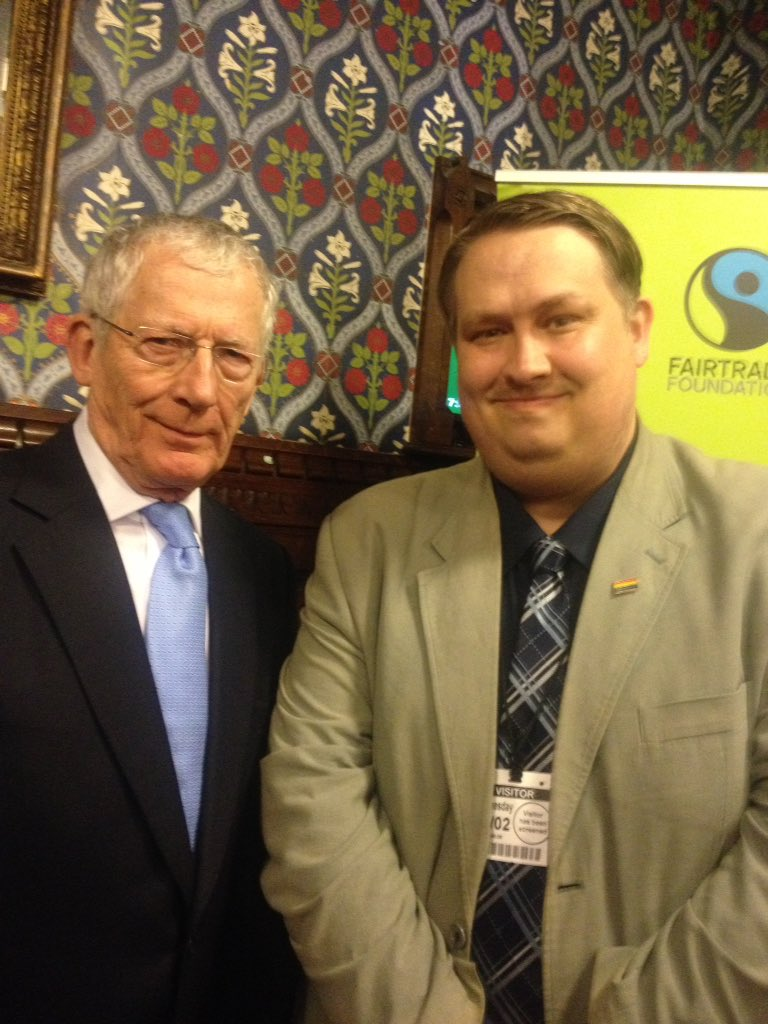 Was fantastic to meet TVs @Nick_Hewer, formerly of The Apprentice on BBC One and now Countdown on Channel 4, at todays @FairtradeAPPG pre-#FairtradeFortnight reception in the Jubilee Room at the Palace of Westminster. A lovely man and a great supporter of the cause! #Fairtrade