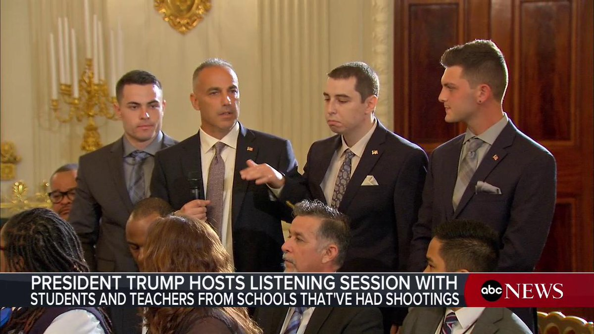 """""""It should have been one school shooting and we should have fixed it! And I'm pissed! It's my daughter Im not going to see again. Andrew Pollack, father of one of the Florida school shooting victims speaks out during White House listening session: abcn.ws/2sNNhIC"""