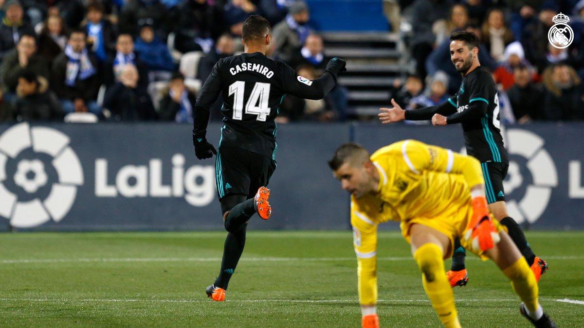هدف ريال مدريد الثاني في ليغانيس