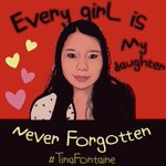 I am keeping #TinaFontaine's family, her friends and her community in my heart and I am hoping that there will be #JusticeForTinaFontane at long last. Never forget our over 4,000 #MMIWG Never forget #TInaFontaine #TinaFontaineIsNeverForgotten RT