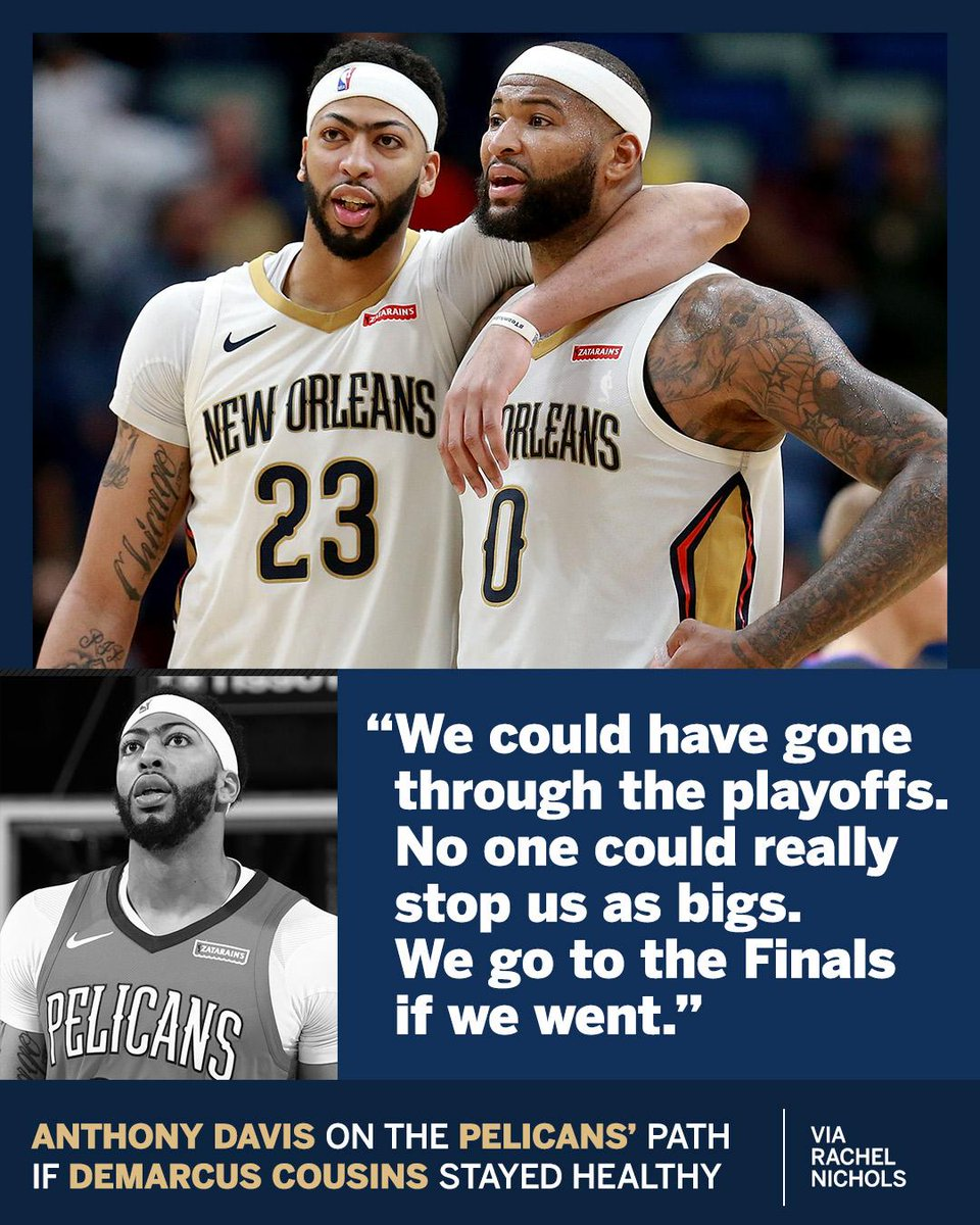 With Boogie? Anthony Davis thought the Pelicans would've gone far.