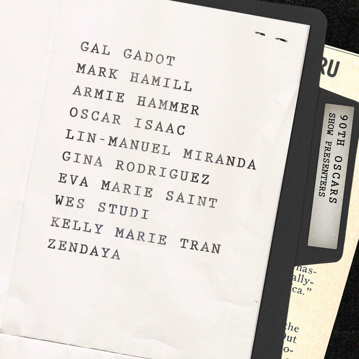 The Academy announced their next ten presenters for the #Oscars
