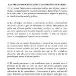 RT @unidadvenezuela: #COMUNICADO: LA UNIDAD DEMOCR...
