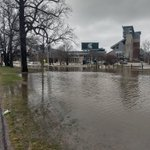 Witnessing a significant #flood event on the banks of the Red Cedar this week #TurnAroundDontDrown