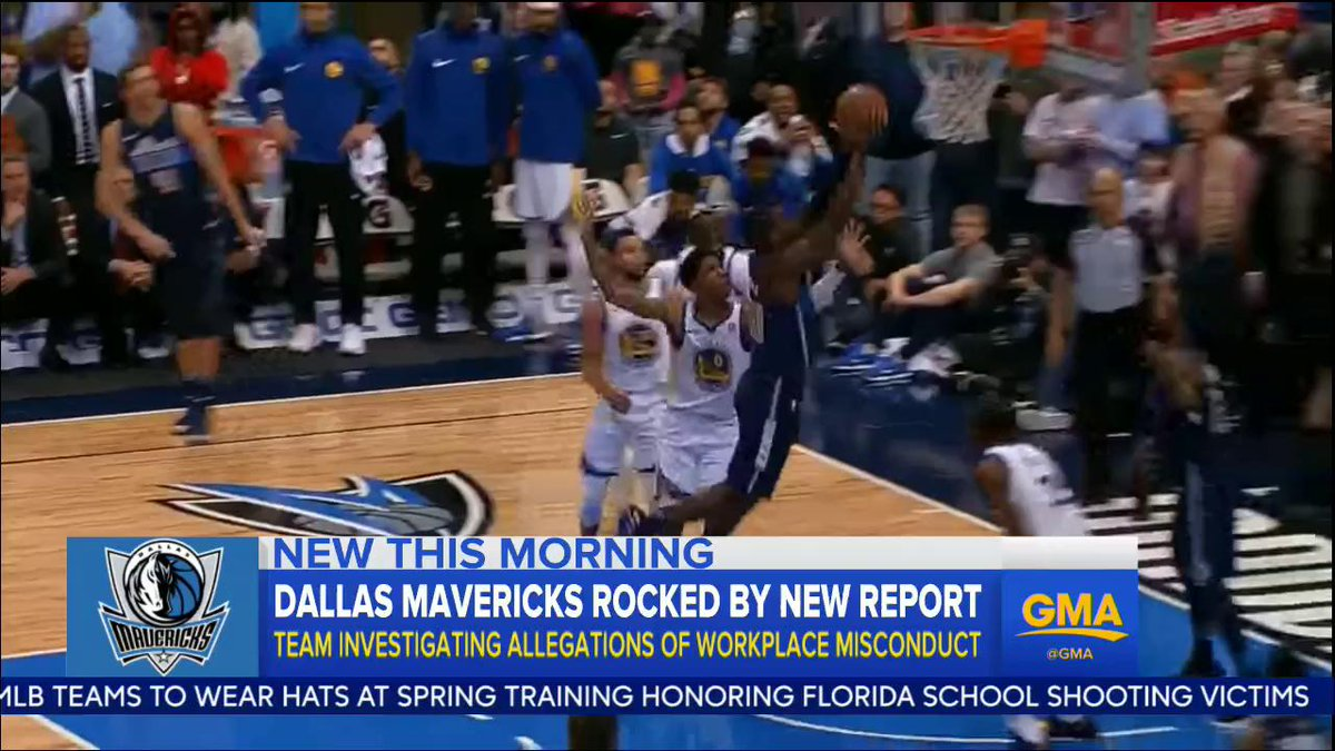 The @dallasmavs have hired outside counsel to investigate allegations of inappropriate conduct by former team president Terdema Ussery in a report that described a hostile workplace for women: abcn.ws/2BGYsp2
