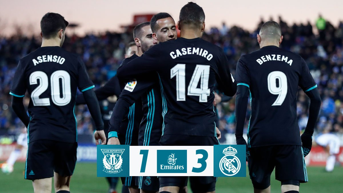 Chấm điểm kết quả Leganes 1-3 Real Madrid