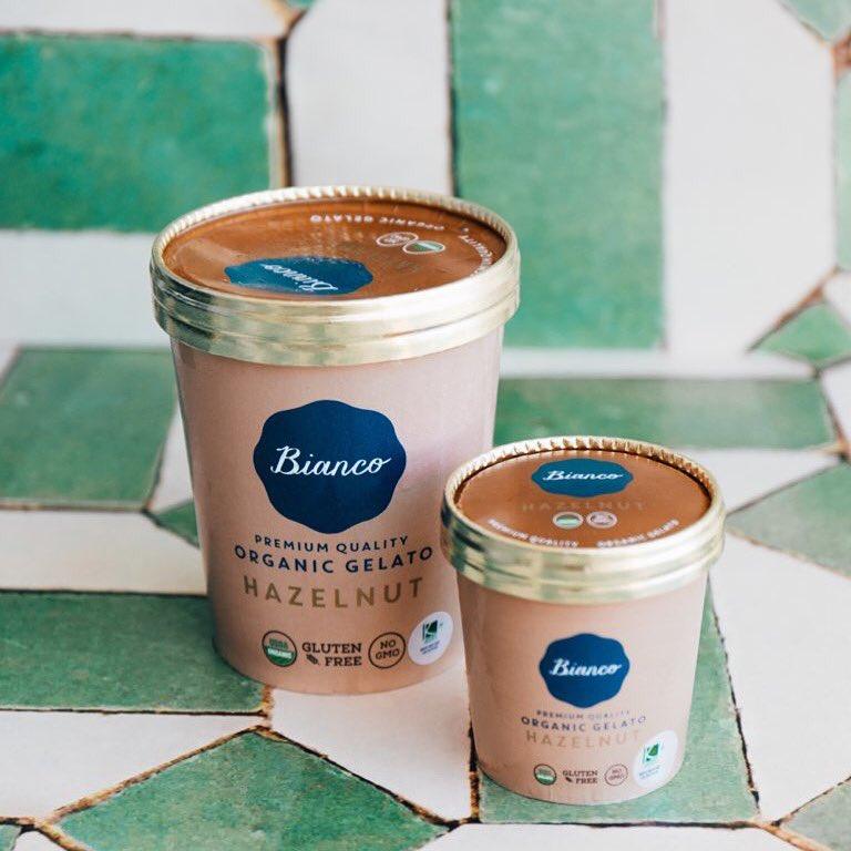 Tomorrow we can eat broccoli, but today is for organic hazelnut gelato! #BiancoGelato #CoconutGrove