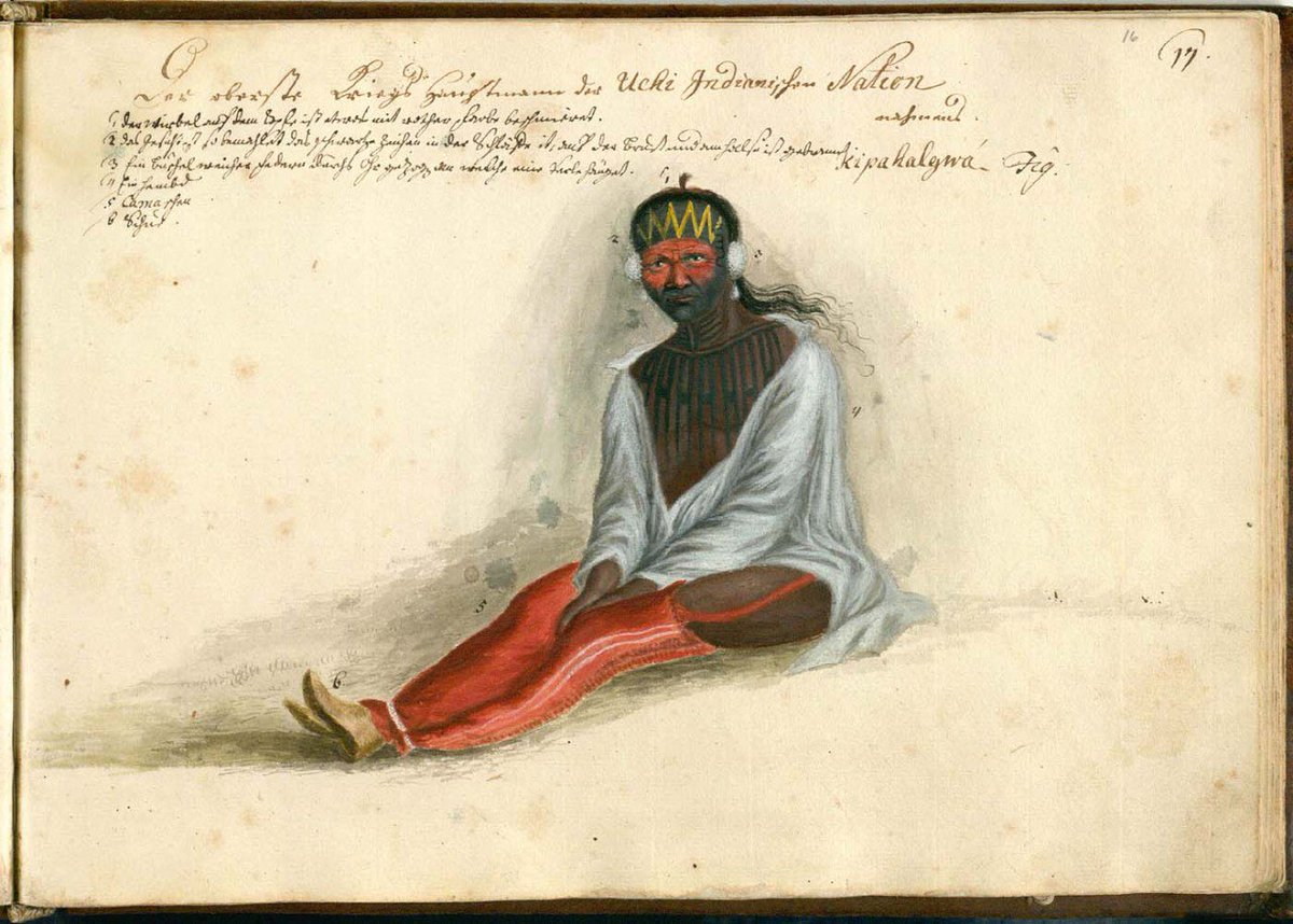 Philip Georg Friedrich von Reck The supreme commander of the Yuchi Indian nation, whose name is Kipahalgwa Germany (1736) More on European Images of Native Americans [w/primary sources] 1700-1775 (PDF): nationalhumanitiescenter.org/pds/becomingam…