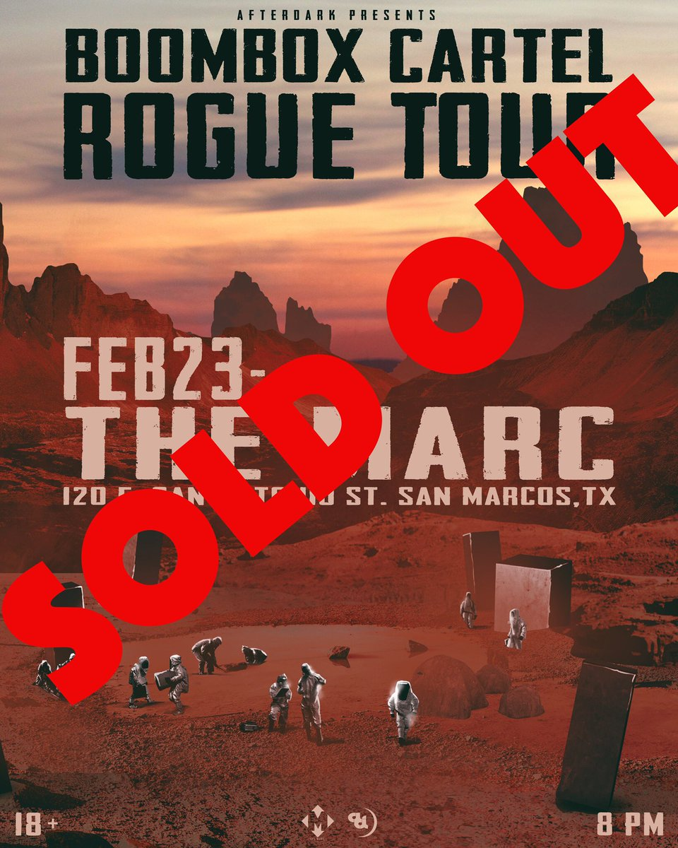 This Friday with BOOMBOX CARTEL is officially SOLD OUT.