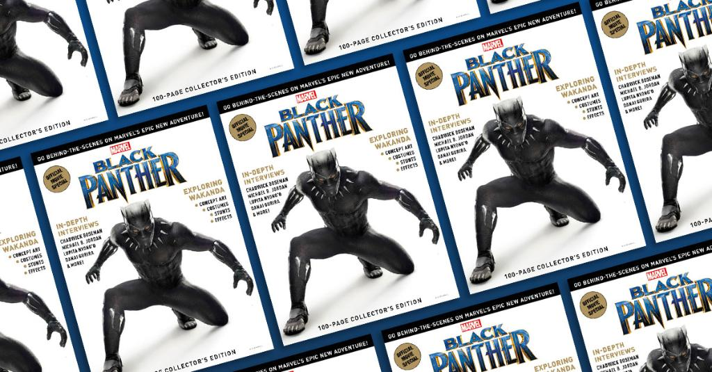 Critics and moviegoers love #BlackPanther: Get the inside track on the hot new Marvel Studios movie with BLACK PANTHER: THE OFFICIAL MOVIES SPECIAL – on sale NOW! spr.ly/6015Du7dP
