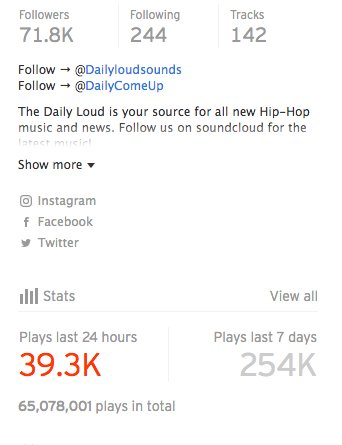 Our Soundcloud is somewhat BOOMING 🔥