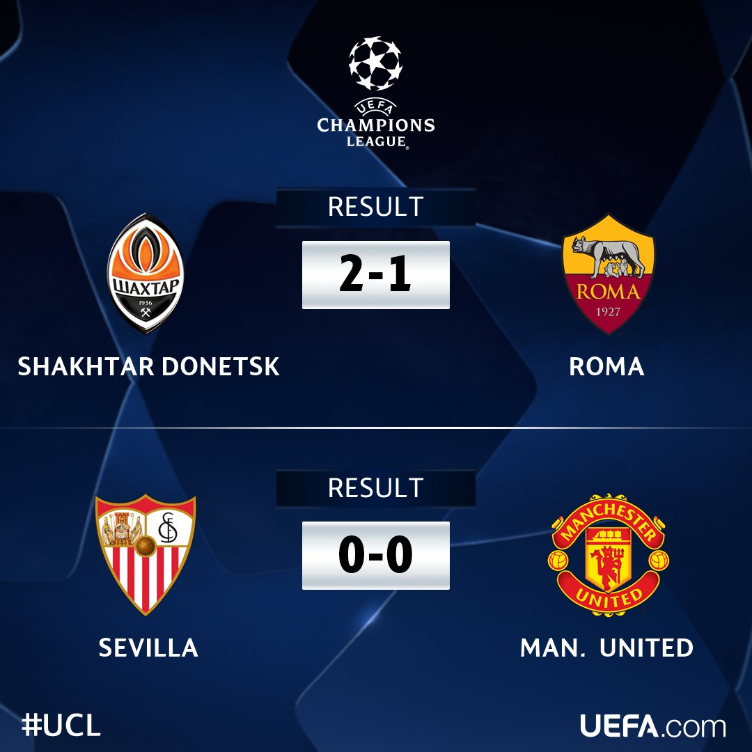 ⏰ RESULTS ⏰  Wednesday's #UCL round of 1...