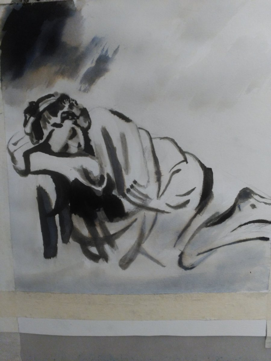 #LHM47 #TintaChina #EsCopiaDeRembrandt #ArTerapia #HaySalida de los estados depresivos  #Alivio  #Esperanza #Lucha