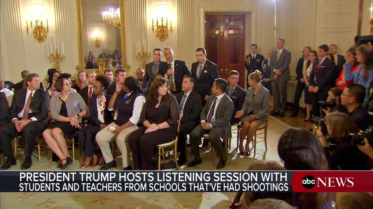 Were here because my daughter has no voice. She was murdered last week...shot nine times on the third floor...we as a country failed our children. Father of slain student at Florida school shooting speaks out during White House listening session: abcn.ws/2sNNhIC