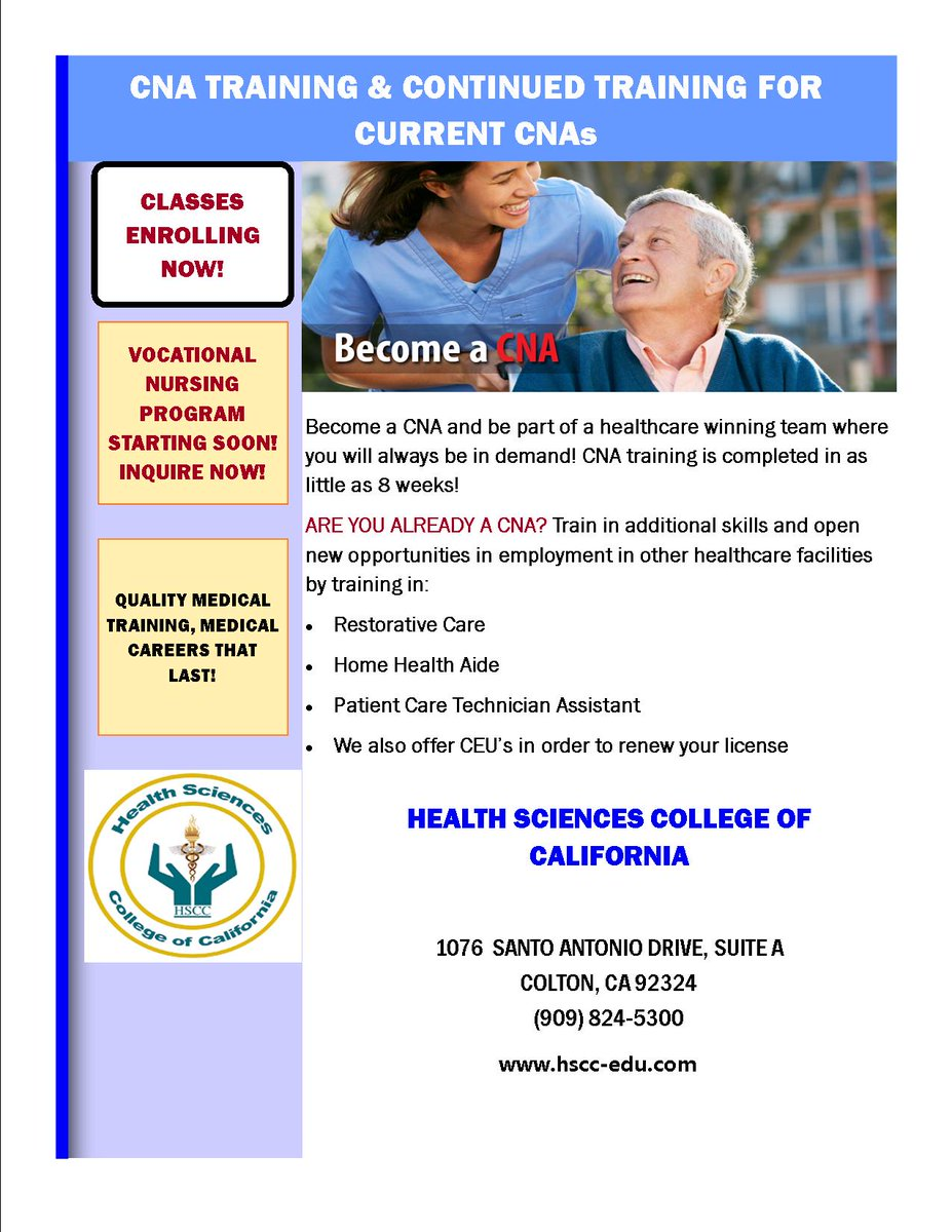 California Health Sciences College Hsccofc Twitter