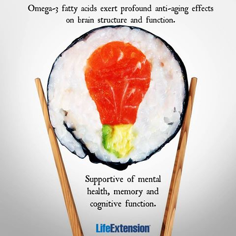 Yum, do you love sushi? Your brain sure does! #omega3s #brainhealth