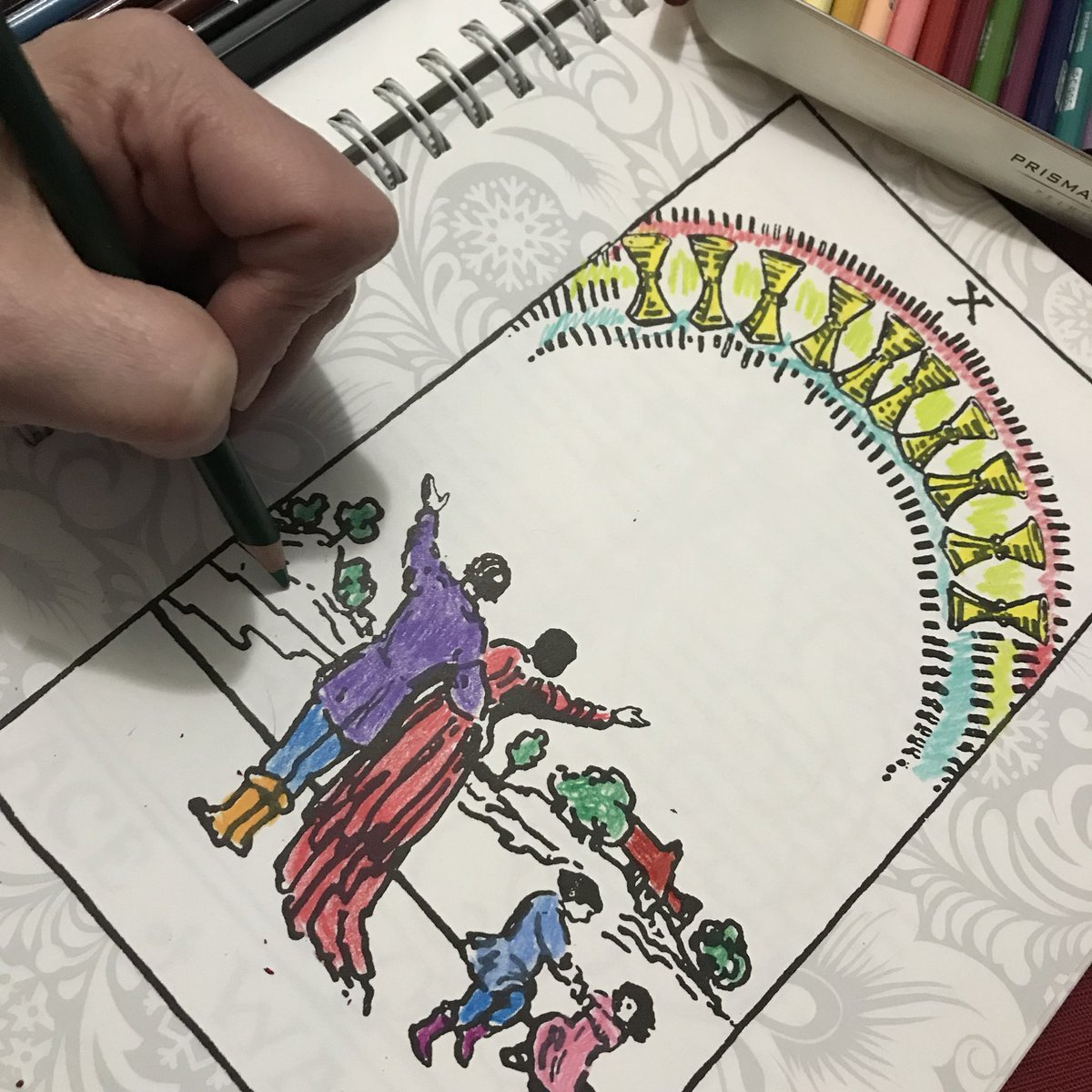 As You Color In The Pic Give Silent Gratitude Let Your Love And Good Vibes Saturate Image Tarot Gratitudejournal
