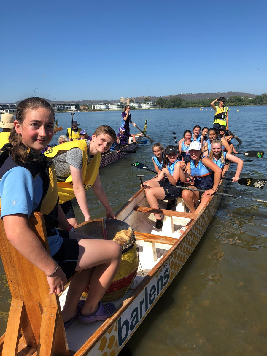 Last weekend CGS entered its 1st ever Girls Crew into a comp & they came 2nd in the Dragon Boat 10s Final against tough competitors who had previously paddled for Aus & ACT teams! The Mixed & Boys Crews also paddled with great intensity & did well in the Finals - well done all.