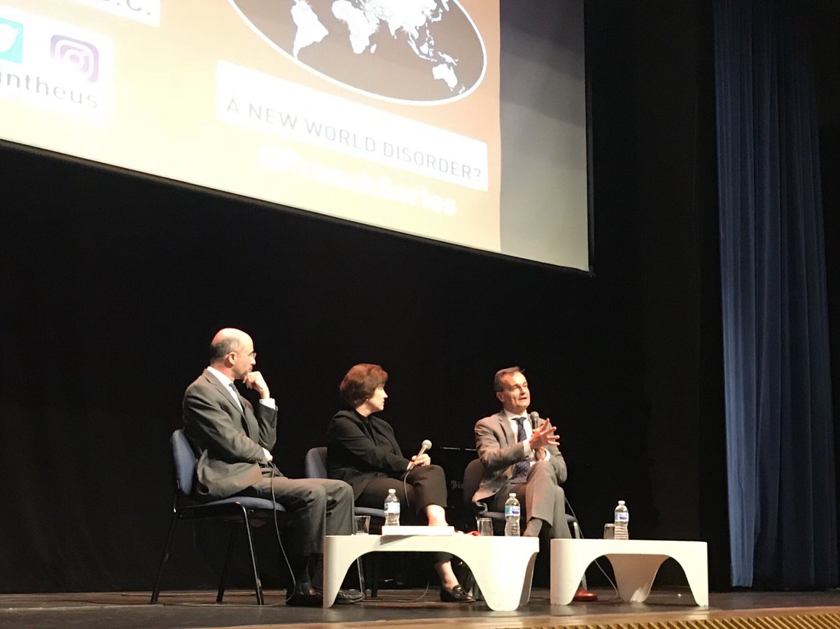 """""""Instead of mourning the collapse of a western world order, let's work with the new emerged countries to rebuild a multilateral order�-Amb. @GerardAraud at #FrenchSeries"""