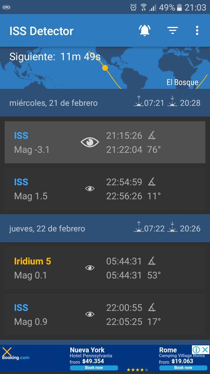 RT @masemyap @reddeemergencia hoy a las 21:15 pasara sobre santiago la ISS