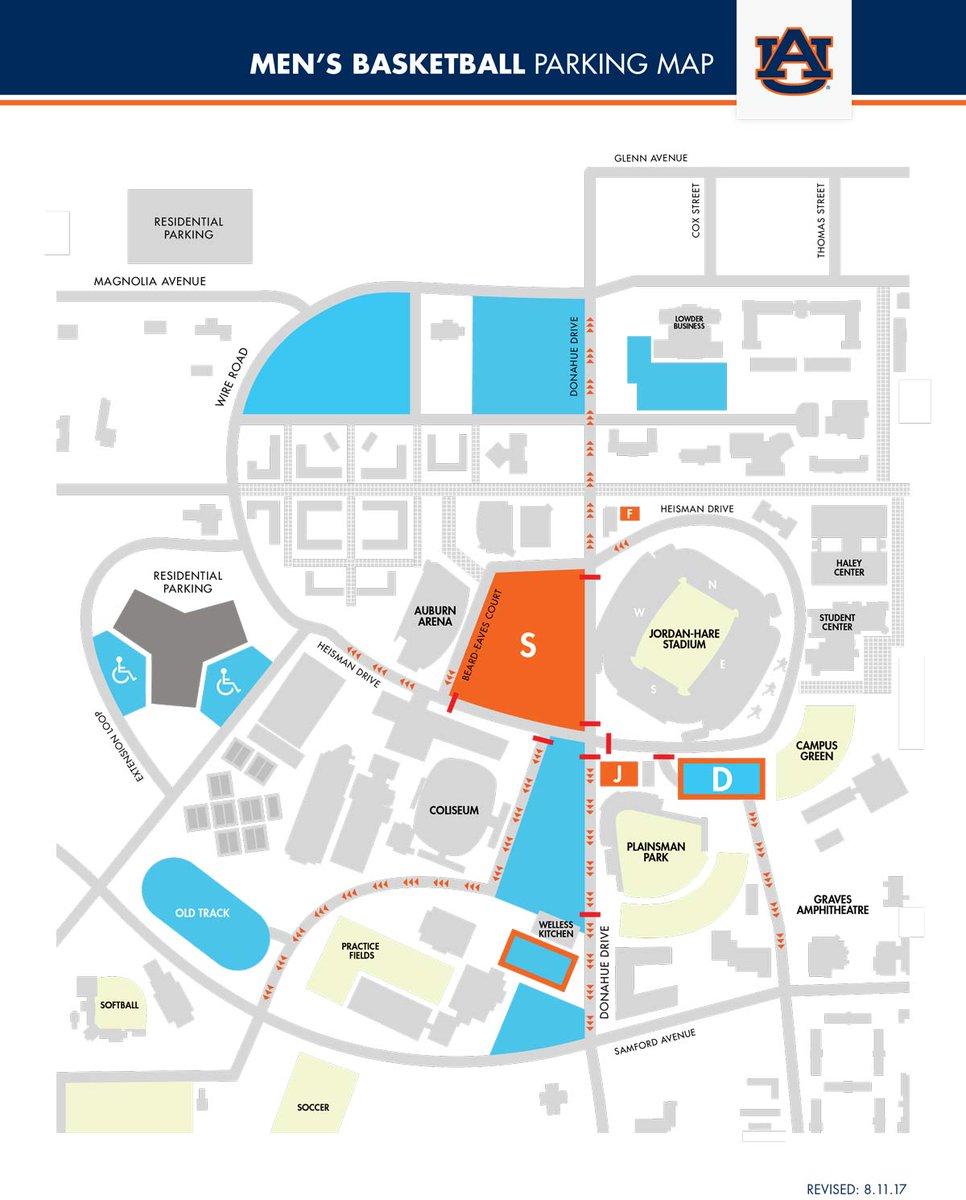 Auburn Tigers On Twitter Parking Information Headed To