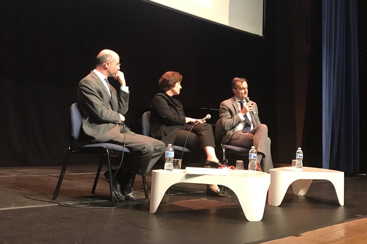 """""""When you are negotiating, you aren't deciding the interests of the other side. You are listening to what they say their interests are. That's diplomacy.�-Amb. @GerardAraud #FrenchSeries #Diplomacy"""