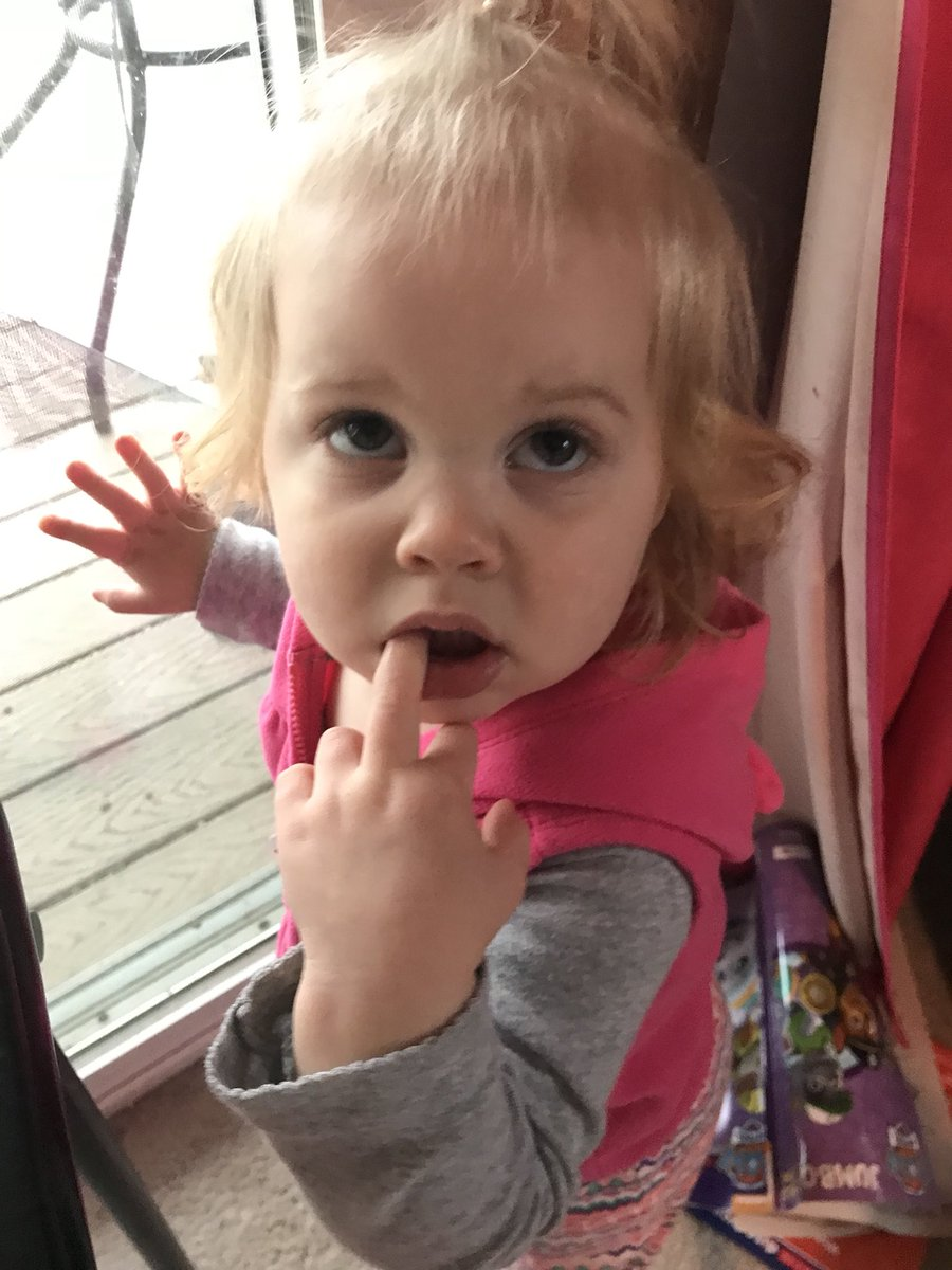Me: Did you poop your pants?  Daughter.....