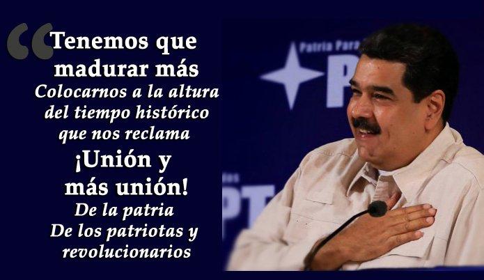 @NicolasMaduro y el PPT: 'Nosotros estam...