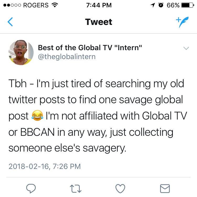 Global TV on Twitter: