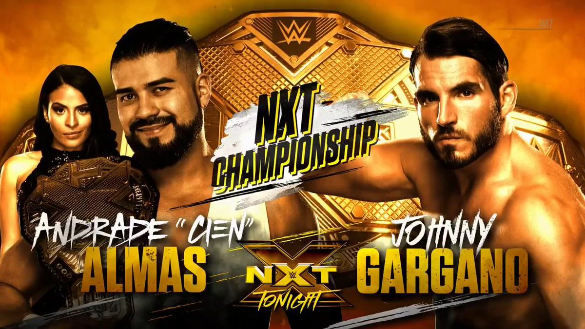 If #NXTChampion @AndradeCienWWE has another successful title defense tonight, itll be the end of @JohnnyGarganos #WWENXT career.