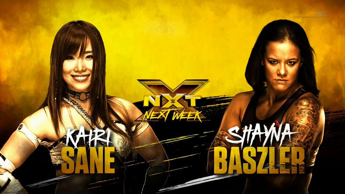 Tensions between @KairiSaneWWE and @QoSBaszler will culminate next week in the form of a matchup on #WWENXT, only on @WWENetwork!