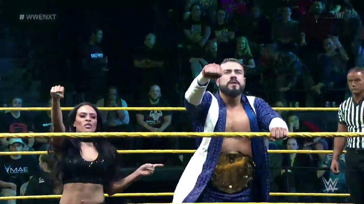 #NXTChampion @AndradeCienWWE and his business manager @Zelina_VegaWWE want to see @JohnnyGargano LEAVE #WWENXT tonight!