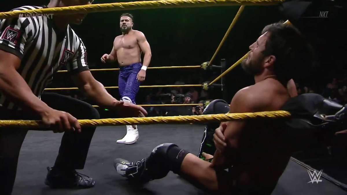 #NXTChampion @AndradeCienWWE is looking to systematically wear down @JohnnyGargano! #WWENXT