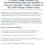 """""""We look forward to congratulating @TeamUSA & celebrating all that our athletes have achieved."""" Assistant to @POTUS and Advisor @IvankaTrump will lead the Presidential Delegation to ROK to attend the closing ceremony of the #PyeongChang2018 Winter Olympics https://t.co/5WwSwK316b"""