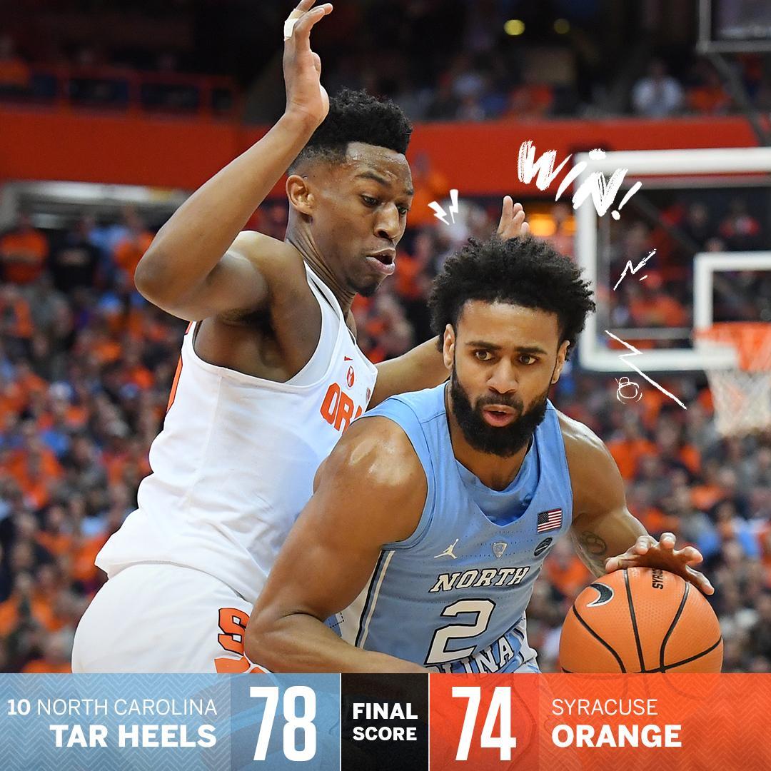 Tar Heels survive!  North Carolina escap...