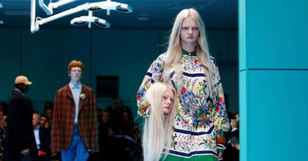 Fashion Week de Milan: la mode perd la tête au défilé Gucci https://t.co/gCeTnBnkpF
