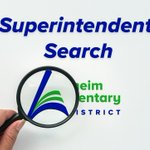 Image for the Tweet beginning: Superintendent Search – Employee and