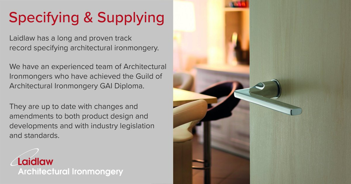 Our team doesn\u0027t just have years of #experience specifying #architecturalironmongery they are #GAI qualified and keep up to date with industry changes and ... & Laidlaw UK (@laidlaw_uk) | Twitter