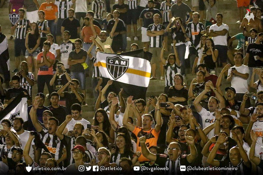 📸 Sempre presente! Torcida do Galo apoiou o time na Paraíba! Valeu, Massa! Vamos, #Galo! #BOTxCAM