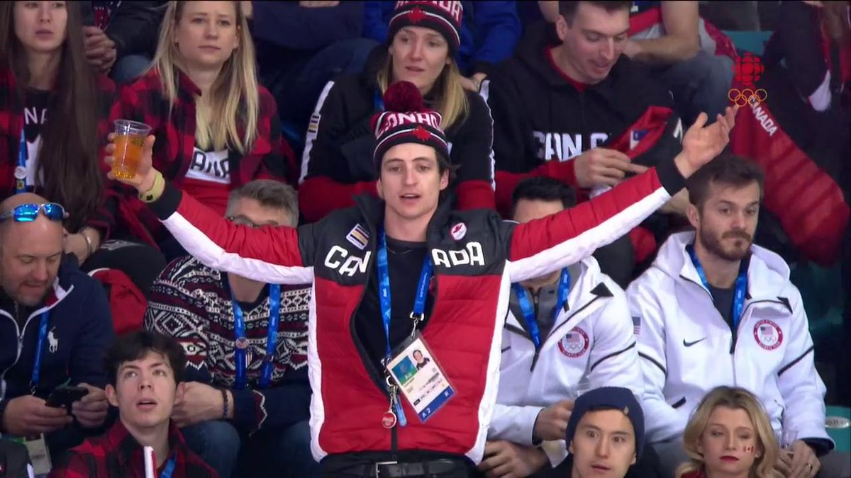Scott Moir is all of Canada rn  #CAN goes to a third PK  WATCH: https://t.co/V974X6M8Ms https://t.co/bNkAuKFkKx