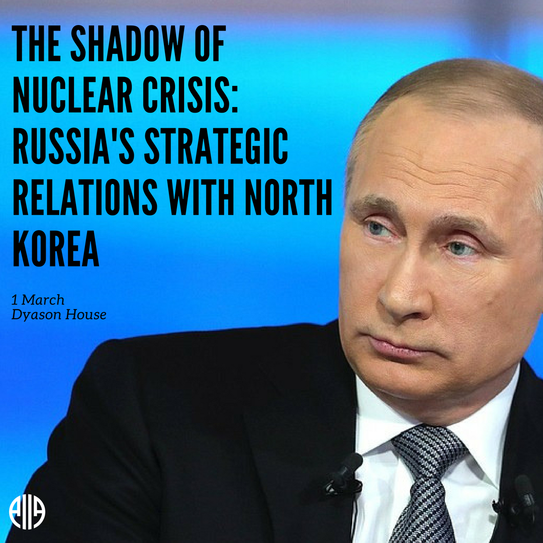What are Russia's views on the ongoing nuclear crisis on the Korean peninsula? What will be Moscow's patterns should the political-military standoff with North Korea escalate? On March 1st, Dr Alexey Muraviev comes to AIIA Victoria to give his views. bit.ly/2BI2bTh