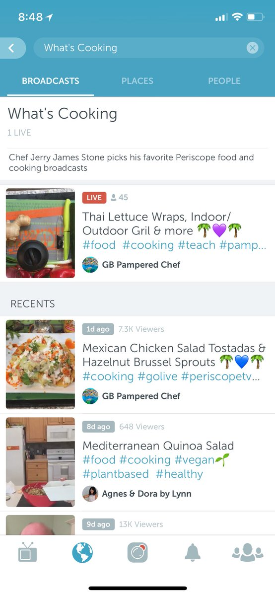 Follow me on #Periscope to find out What's Cooking https://t.co/m9wiNpy7HA