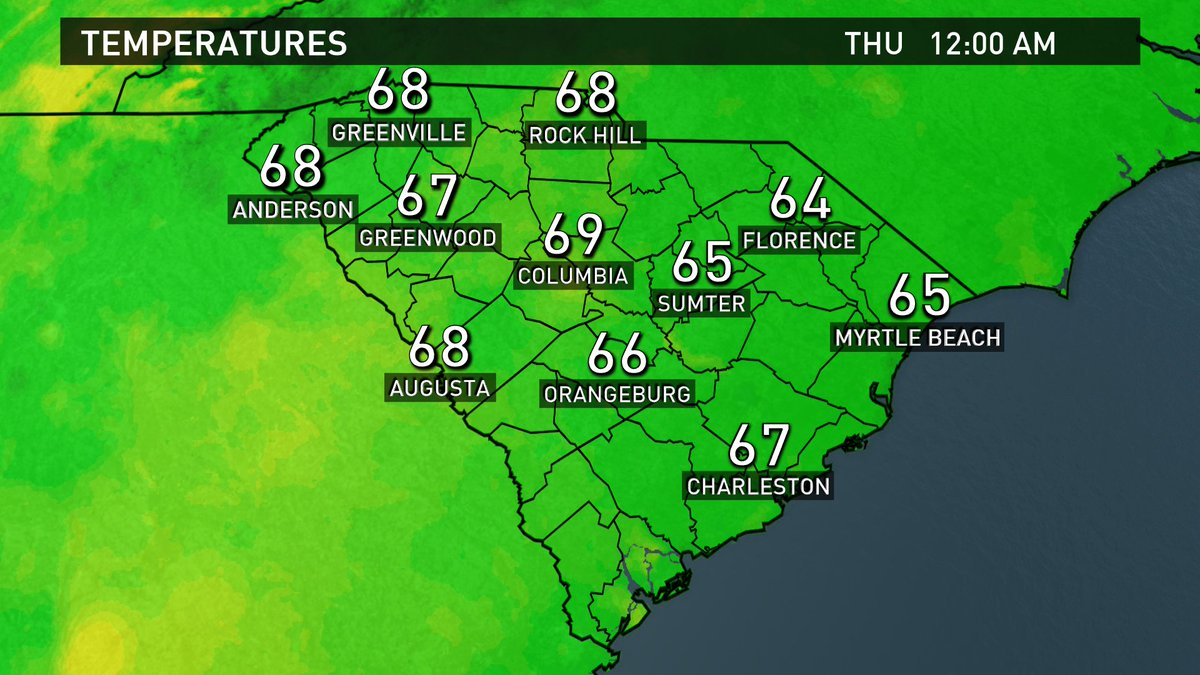 Here are the current temperatures across the state. #scwx https://t.co/PgXLZYmzVD