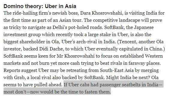 Stanley Pignal On Twitter Domino Theory Uber In Asia My Take In
