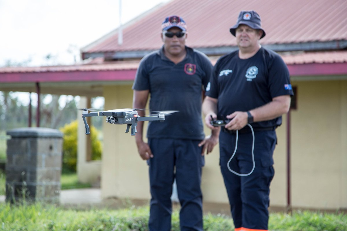 We're working with @DFAT @AustHCTonga & partners to support the government of Tonga to rapidly assess damages caused by #CycloneGita using drone technology bit.ly/2HCKXHu (Photo: @dfat)