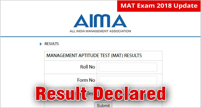 #MATFebResults : MAT February 2018 Exam Result Declared Today #22February: Check Your #MATResult and #ScoreCard  Check Here :) http://www.mbauniverse.com/mat/result