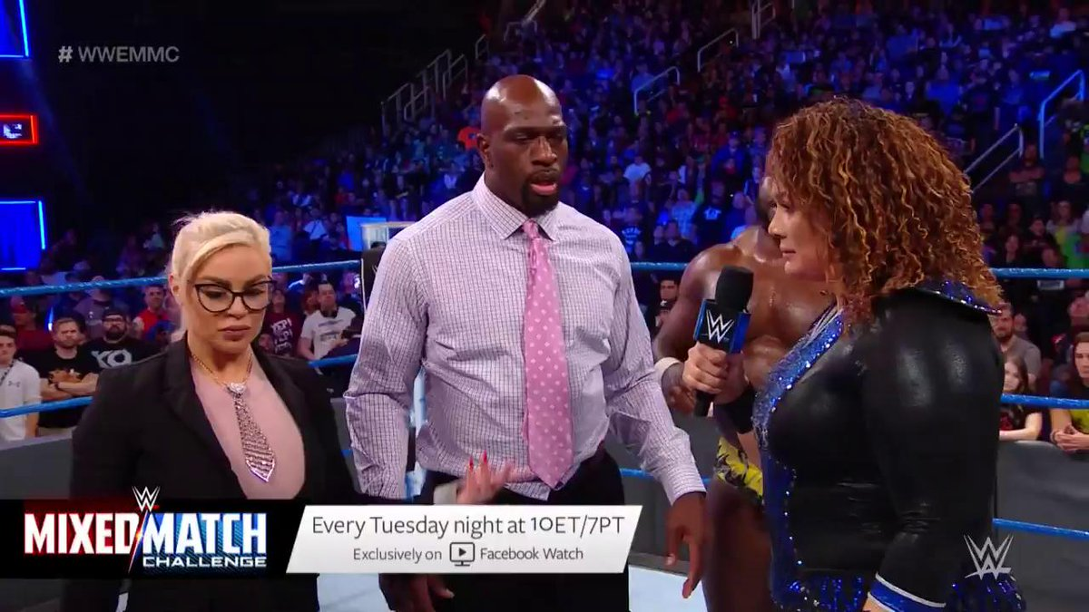 You disrupt our training. YOU disrupt our strategy! - @NiaJaxWWE had HARSH words for @DanaBrookeWWE & @TitusONeilWWE on @WWE Mixed Match Challenge! #WWEMMC